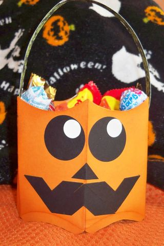 Pumpkin pillow basket